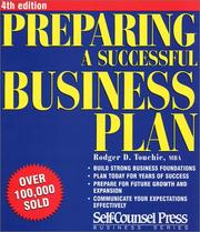 Cover of: Preparing a Successful Business Plan