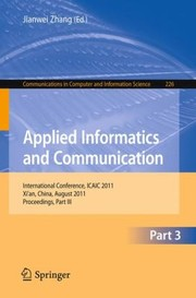 Cover of: Applied Informatics And Communication