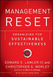 Cover of: Management Reset Organizing For Sustainable Effectiveness