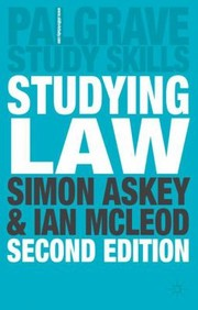 Cover of: Studying Law
