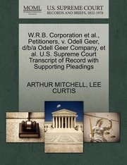 Cover of: Wrb Corporation Et Al Petitioners