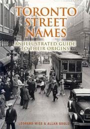 Cover of: Toronto street names