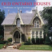 Cover of: Old Ontario Houses