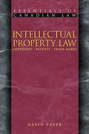 Cover of: Intellectual Property Law