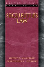 Securities Law (Essentials of Canadian Law)