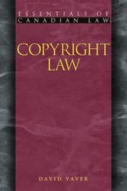 Cover of: Copyright Law (Essentials of Canadian Law)