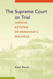 Cover of: The Supreme Court on Trial
