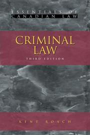 Cover of: Criminal law
