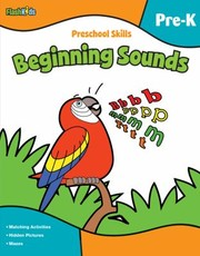 Cover of: Flash Kids Preschool Skills Beginning Sounds