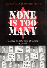 Cover of: None Is Too Many