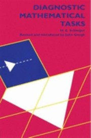 Cover of: Diagnostic Mathematical Tasks