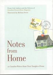 Cover of: Notes From Home | Cobi Ladner