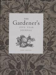 Cover of: The Gardener's Five Year Journal