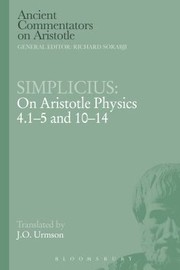 Cover of: On Aristotle Physics 415 And 1014