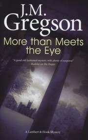 Cover of: More Than Meets The Eye A Lambert Hook Mystery