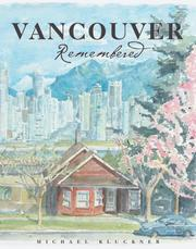 Cover of: Vancouver remembered