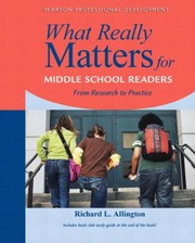 Cover of: What Really Matters For Middle School Readers From Research To Practice