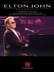 Cover of: Elton John Favorites Piano Solo Personality Pf Bk