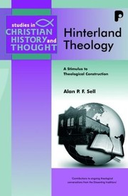 Cover of: Hinterland Theology A Stimulus To Theological Construction