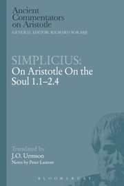Cover of: On Aristotle On The Soul 1124