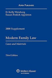 Cover of: Modern Family Law Cases Materials 20082009 Supplement