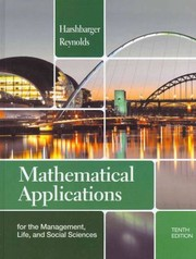 Cover of: Mathematical Applications for the Management Life and Social Sciences