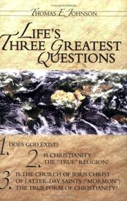 Cover of: Life's three greatest questions