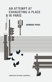 Cover of: An Attempt At Exhausting A Place In Paris