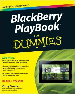 Blackberry Playbook For Dummies by