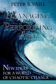 Cover of: Managing as a performing art
