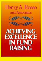 Cover of: Achieving excellence in fund raising