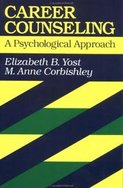 Cover of: Career Counselling, A Psychological Approach