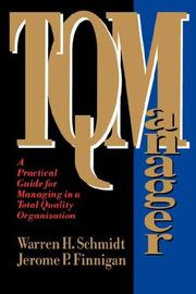 Cover of: TQ Manager | Warren H. Schmidt