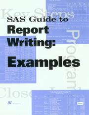Cover of: SAS guide to report writing |