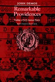 Cover of: Remarkable Providences