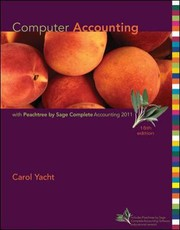 Cover of: Computer Accounting With Peachtree Complete 2011 Release 190
