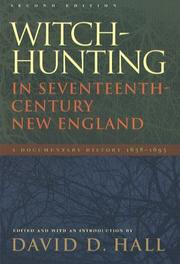 Cover of: Witch-Hunting in Seventeenth-Century New England