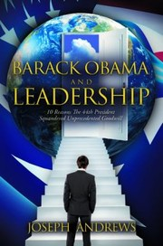 Cover of: Barack Obama and Leadership