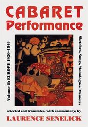 Cover of: Cabaret Performance