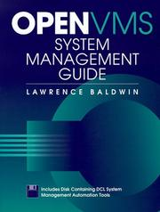 Cover of: Open Vms System Management Guide