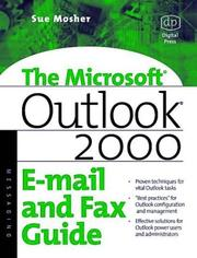 Cover of: Microsoft Outlook 2000 E-mail and Fax Guide