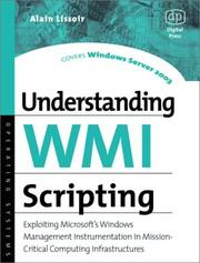 Cover of: Understanding WMI Scripting (HP Technologies) | Alain Lissoir