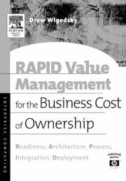 Cover of: RAPID Value Management for the Business Cost of Ownership