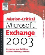 Cover of: Mission-Critical Microsoft Exchange 2003