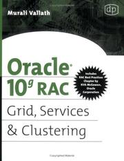 Cover of: Oracle 10g RAC Grid, Services & Clustering | Murali Vallath