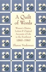 Cover of: A Quilt of Words | Sharon Niederman