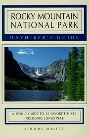 Rocky Mountain National Park dayhiker's guide by Jerome Malitz