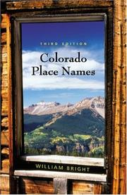 Cover of: Colorado place names