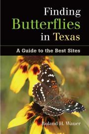 Cover of: Finding butterflies in Texas
