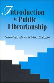 Cover of: Introduction to public librarianship